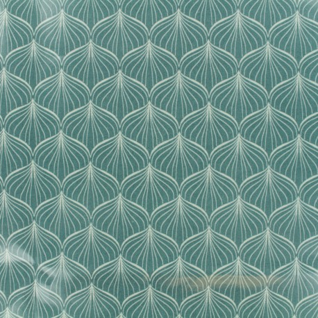 Tissu Oeko-Tex toile cirée Alli - vert x 10cm
