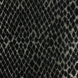 ♥ Coupon 200 cm X 140 cm ♥   Jacquard Canvas Fabric Serpenti - black