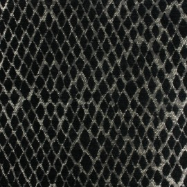 Jacquard Canvas Fabric Serpenti - black x 10cm