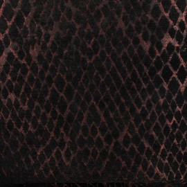 Jacquard Canvas Fabric Serpenti - black/copper x 10cm