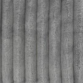 Tissu velours minkee côtelé XL Gris Palombe x 10cm