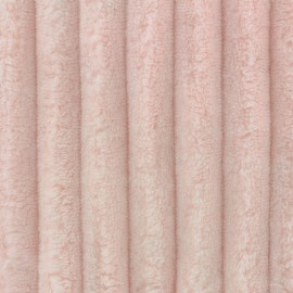 Minky ribbed XL velvet fabric - camay pink  x 10cm