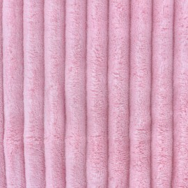 Minky ribbed XL velvet fabric - candy pink  x 10cm