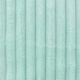 Minky ribbed XL velvet fabric - jade  x 10cm