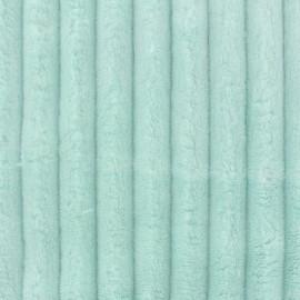 Tissu velours minkee côtelé XL JADE x 10cm