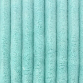 Minky ribbed XL velvet fabric - aqua  x 10cm