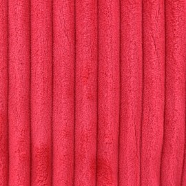 Minky ribbed XL velvet fabric - red kiss x 10cm