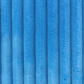 Minky ribbed XL velvet fabric - blue x 10cm