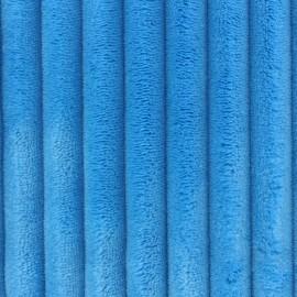 Tissu velours minkee côtelé XL BLEU x 10cm