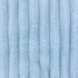 Minky ribbed XL velvet fabric - baby blue x 10cm