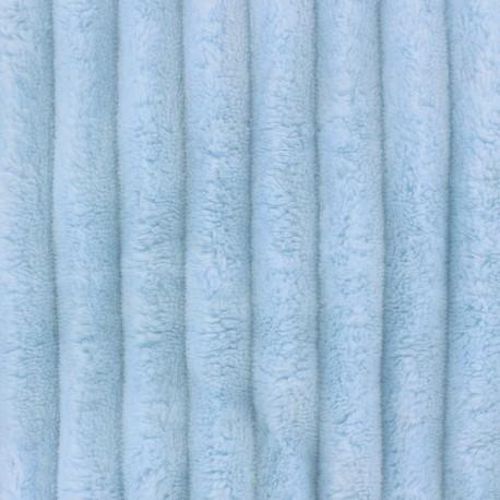 Tissu velours minkee côtelé XL BLEU GIVRE x 10cm