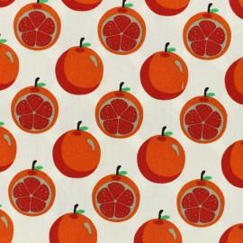 Tissu coton Orangeade - blanc x 10cm