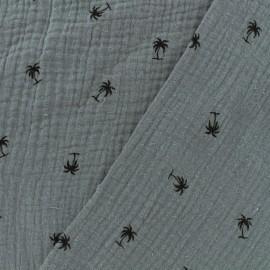 Double gauze fabric MPM Oeko-tex - grey blue x 10cm