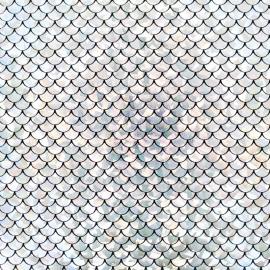 Tissu Lycra Mermaid - argent x 10cm