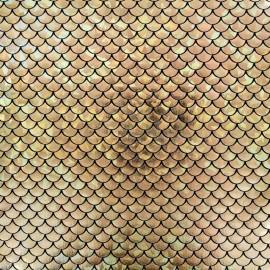 Mermaid lycra fabric - gold x 10cm