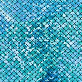 Tissu Lycra Mermaid - turquoise x 10cm