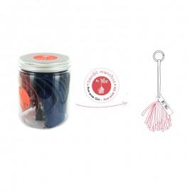 Kit créatif Bandit Manchot By Me - Pom-Pom Girl bleu