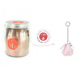 Kit créatif Bandit Manchot By Me - Pom-Pom Girl rose gold