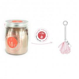Kit créatif Bandit Manchot By Me - Pom-Pom Girl rose gold