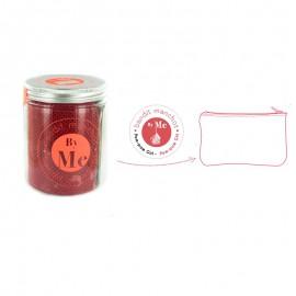 ♥ Kit créatif Bandit Manchot By Me - L'ADN de la trousse rouge coquelicot ♥