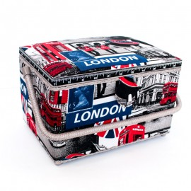 Sewing box London L - black