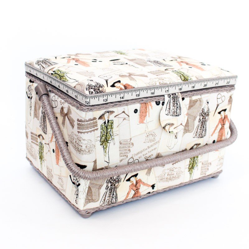 Sewing box size l vintage haute couture for Haute couture seamstress
