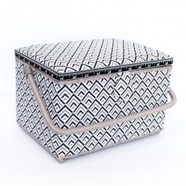 Boîte à couture Graphic Taille L - blanc
