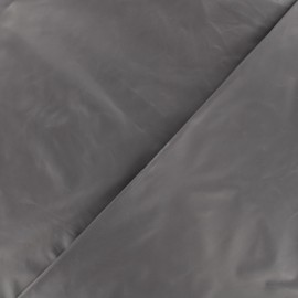 Glossy polyester fabric - dark grey x 10cm