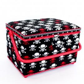 Boîte à couture Pirates Taille L - noir