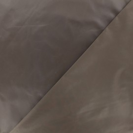 Glossy polyester fabric - frozen brown x 10cm