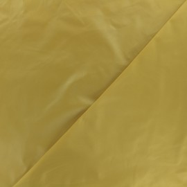 Glossy polyester fabric - mustard x 10cm
