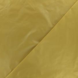 Tissu toile parachute Glossy - moutarde x 10cm