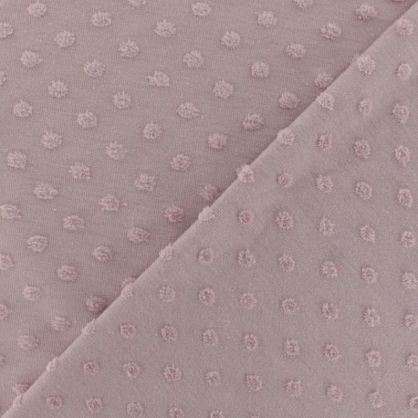 Tissu jersey floqué velours Stars gris bleuté x 10cm