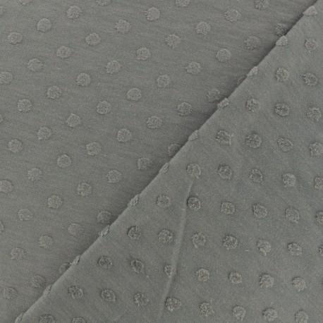 Stars Flocked velvet jersey fabric - Orchid x 10cm