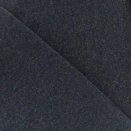 Jogging fabric Molletonné Pailleté - dark blue x 10cm