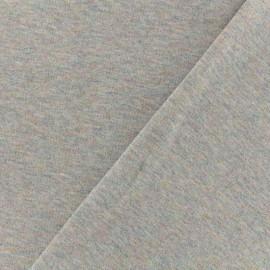 Tissu sweat léger Molletonné Pailleté - gris multi x 10cm