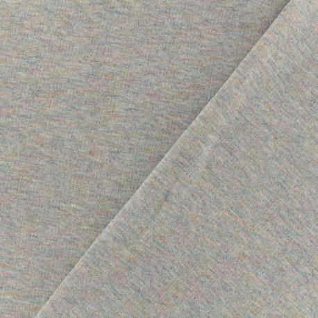 Jogging fabric Molletonné Pailleté - grey multi x 10cm