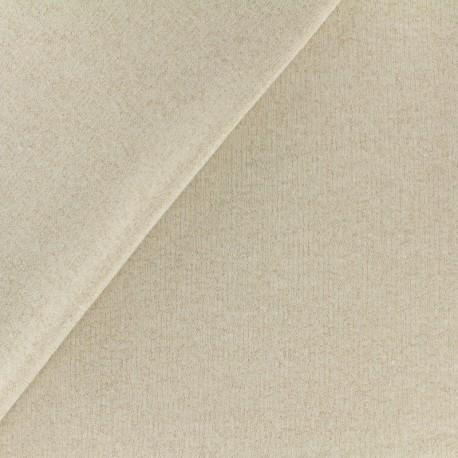 Tissu sweat léger Molletonné Pailleté - sable x 10cm