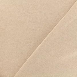 Tissu sweat léger Molletonné Pailleté - camay x 10cm