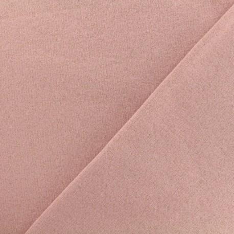 Tissu sweat léger Molletonné Pailleté - rose x 10cm