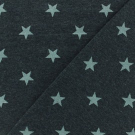 Poppy jersey fabric Magic glitter - dark grey metalized x 10cm