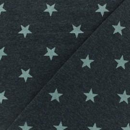 Poppy jersey fabric Magic glitter - dark grey metalized x 10cm