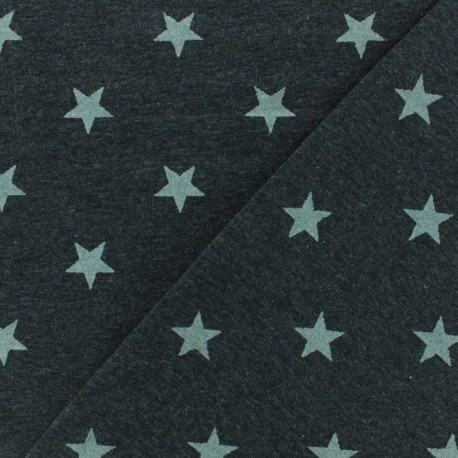 Poppy jersey fabric Unicorns glitter - dark grey metalized x 10cm