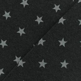 Poppy jersey fabric Magic metal - charcoal x 10cm
