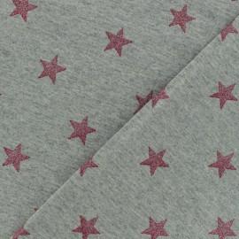 Tissu Oeko-Tex sweat léger Poppy Magic glitter gris x 10cm
