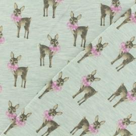 Tissu jersey Poppy Bambi noeud - vert d'eau x 10cm
