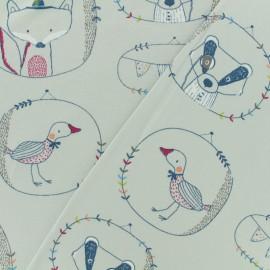 Tissu Oeko-Tex jersey Poppy Lucien - gris clair x 10cm