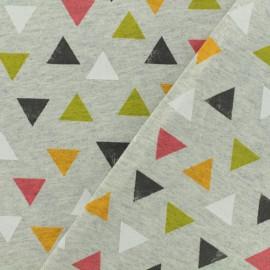 Tissu Oeko-Tex jersey Poppy  Triangle big dream - gris x 10cm
