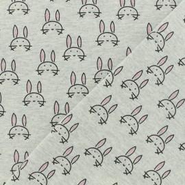 Tissu Oeko-Tex jersey Poppy  Bunny - gris x 10cm