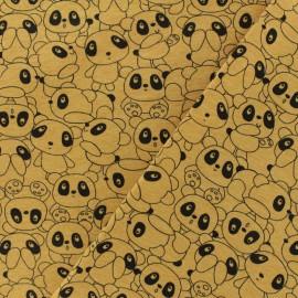 Tissu Oeko-Tex jersey Poppy  Panda - moutarde x 10cm